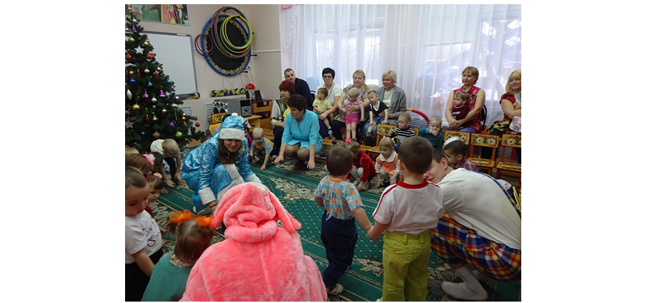 Kursk Department of Business Russia made a New Year performance for kids